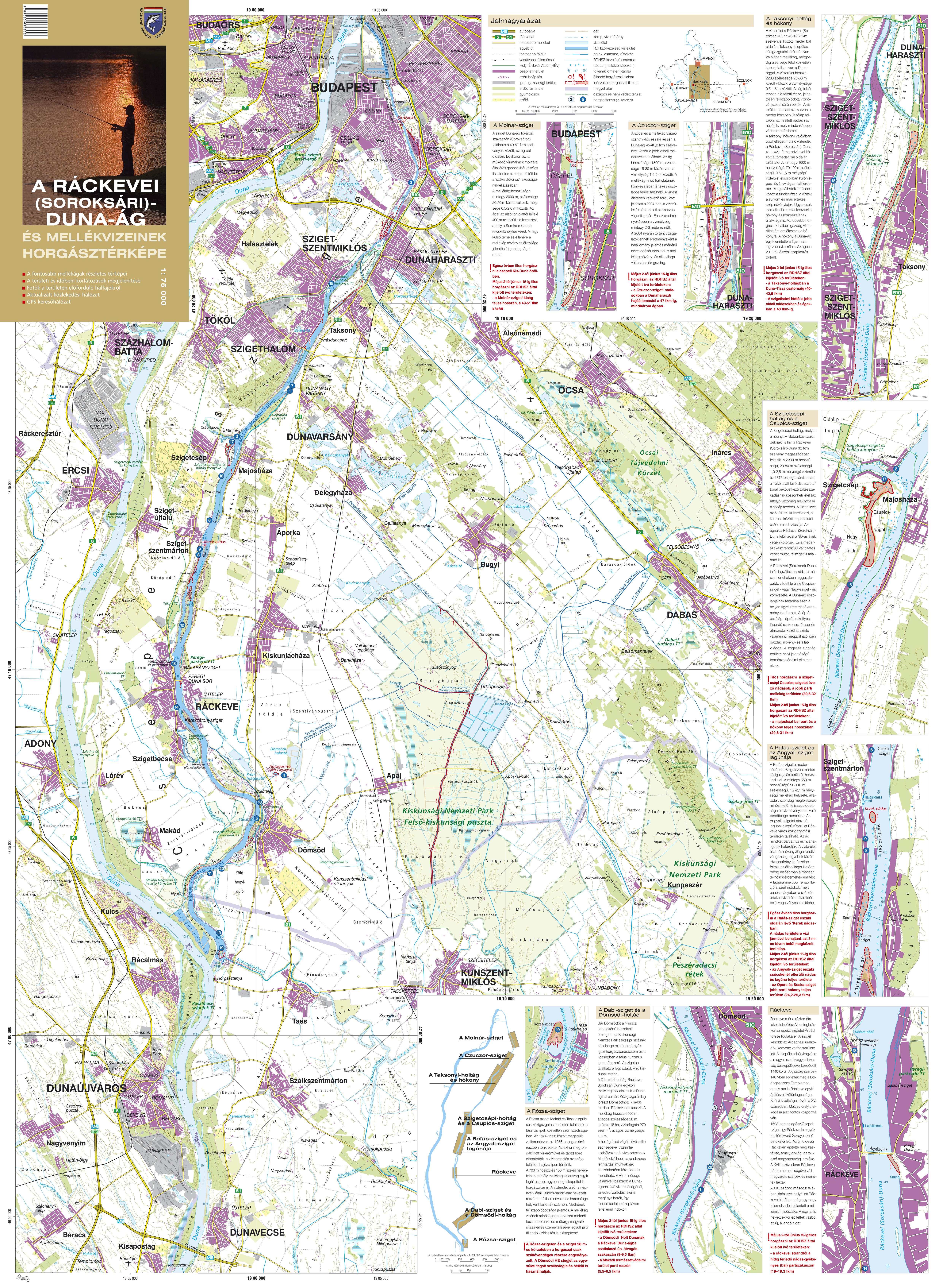 ráckeve térkép A Duna ág horgásztérképe   Ráckevei Dunaági Horgász Szövetség